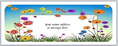 30 Personalized Return Address Labels Flowers Buy 3 get 1 free (c 820)