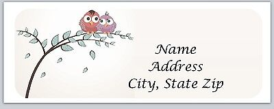 30 Owls Personalized Return Address Labels Buy 3 get 1 free (bo 213)
