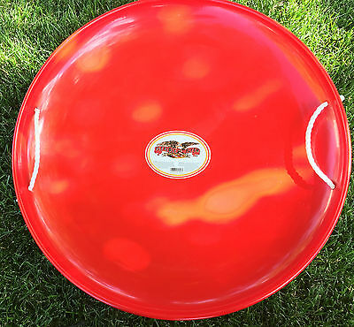 """FLEXIBLE FLYER METAL ROUND RED SAUCER SLED  26"""" Wide"""