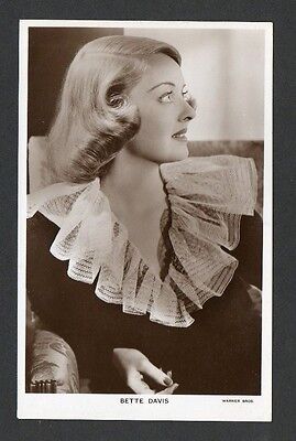 Bette Davis Picturegoer W Series Film Cinema Star Actor Postcard No. W 3