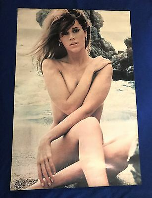 GIANT 1968 young Jane Fonda NUDE POSTER Personality 27x41in USED