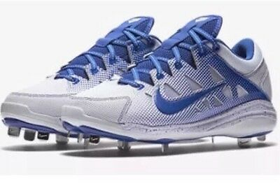 Nike Women's Hyperdiamond Pro Softball Metal Cleats Blue Size 9 (684693-141)