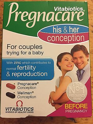 PREGNACARE HIS and (&) HER Conception Vitamins for couples - New Expiry 2019