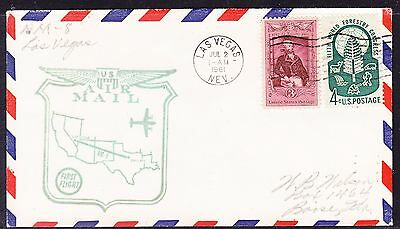USA 1961 - AM8 Las Vegas to Dallas  Flight Cover