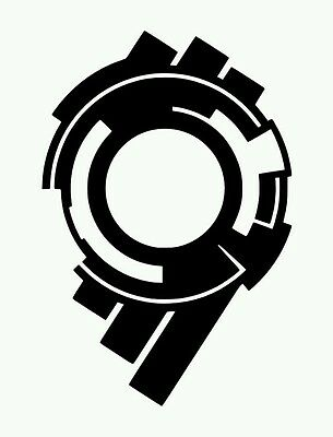 Ghost In The Shell Stand Alone Complex Section 9 Vinyl Sticker BLACK GLOSS