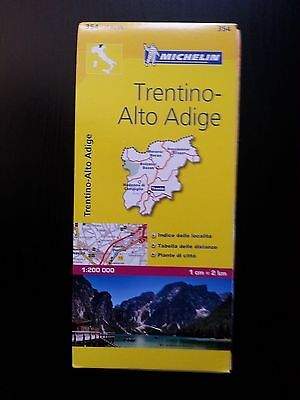 Michelin Trentino Alto Adige Italy Road Map