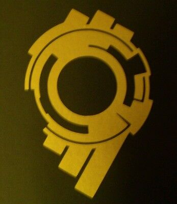 Ghost In The Shell Stand Alone Complex Section 9 Vinyl Sticker GOLD GLOSS