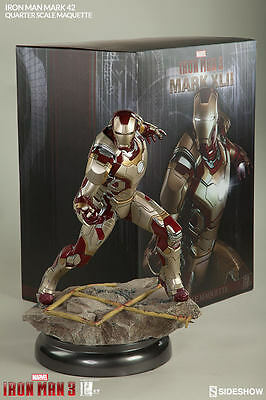 Sideshow Iron Man Mark 42 Maquette Statue (nt hot toys star wars xm studios )