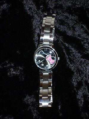Hello Kitty Women's Watch Silver Face Kuixing 2251L Water Resistant Japan movt