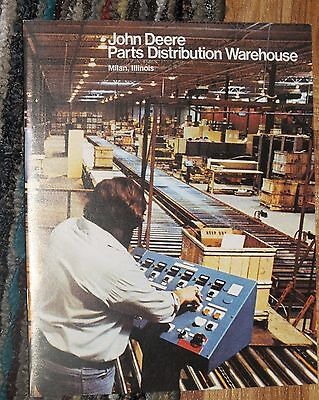 John Deere Parts Distribution Warehouse Booklet 1981 Milan Illinois Tractor Farm
