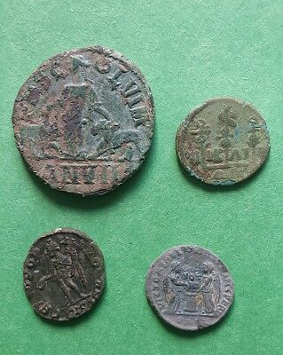 Lot of 4 bronze ancient Roman coins ,Philip 1 Viminacium, Gordian Nicaea mint