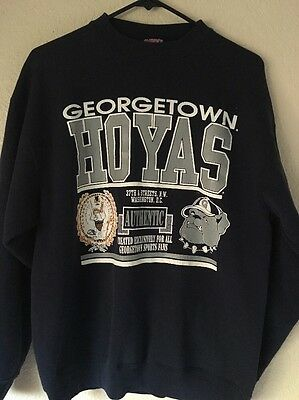 Savvy Georgetown Hoyas Men's Large Navy Crew Neck Sweater Vintage Throwback