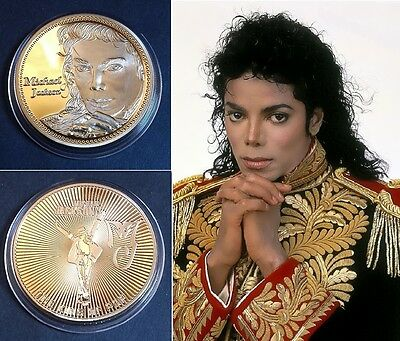 1 Pièce plaquée OR 24 K ( GOLD Plated Coin ) - Michael Jackson Ref 1