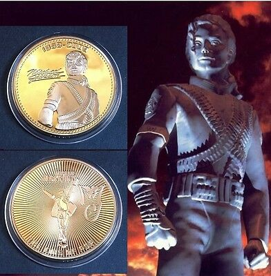 1 Pièce plaquée OR 24 K ( GOLD Plated Coin ) - Michael Jackson Ref 2