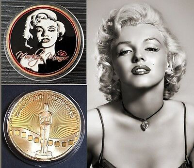 1 Pièce plaquée OR 24 K ( GOLD Plated Coin ) - Marilyn Monroe