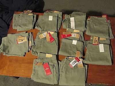 10 New Woolrich Sunday Chino Capri Pants-Sage (Light Green) Sz 8