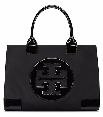 TORY BURCH Ella Nylon Tote Black Large - FREE USPS Priority shipping