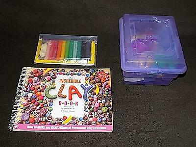 Lot of Sculpey Permanent Oven Bake Clay Crafts & The Incredible Clay Book Klutz