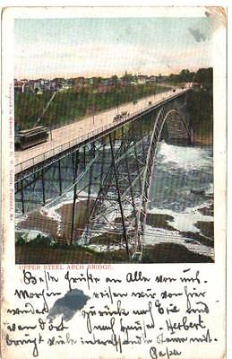 1898 Postcard  DBL Postmark Niagara Falls to Pittsburgh PA German Writing 1904