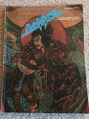 Dokken Beast From The East Guitar Tab Book by Jesse Gress George Lynch
