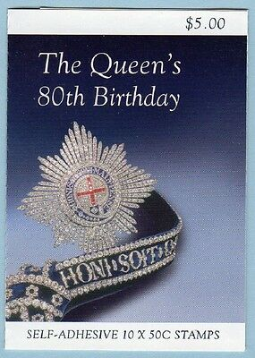 2006 AUSTRALIAN STAMP BOOKLET THE QUEEN'S 80th BIRTHDAY 10 x 50c STAMPS MUH