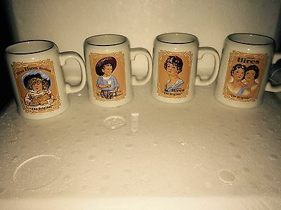 Set Of 4 Ceramic Hires Root Beer Mugs In  Good Condition