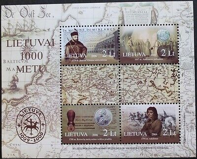 Lithuania Millenary stamp sheet, 2006, Lithuania, 4 stamp set, MNH