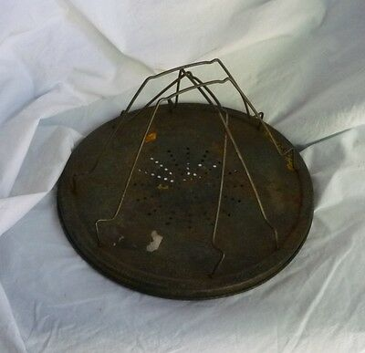 Vintage Campfire Stovetop Toaster Perforated Star Vent 4 Slice Rustic Old
