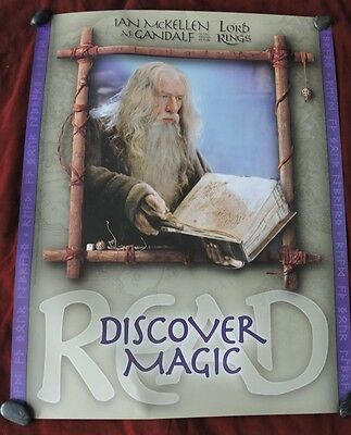 """Lord Of The Rings / Ian Mckellen As Gandalf Posters  - 22"""" X 28""""  / Rare 2001"""