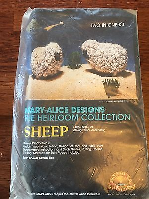 Mary Alice Designs Heirloom Collection Crewel Kit Nativity Sheep 1977 Vintage