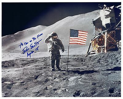 Dave Scott Apollo 15 Signed Kodak Color Photo