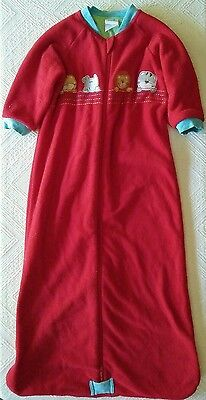 Baby Boy Long-sleeve Sleeping Bag sz1 Red Safari Double-layer Thick Warm