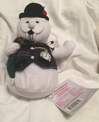 """1999 Rudolph the Red Nosed Reindeer Sam the Snowman 8"""" Christmas with tags"""