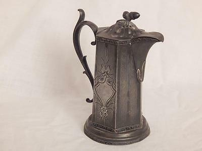 Pewter Pitcher - Acorn On Lid - E.B.M A1 Makers Mark - Possibly German or French
