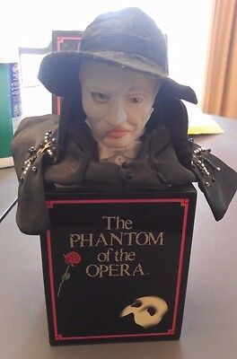 RARE The Phantom of the Opera Mini Musical Jack in the Box Enesco 1990 Vintage
