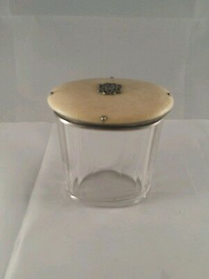 Victorian Sterling Dresser/Vanity  Jar Unique Lid