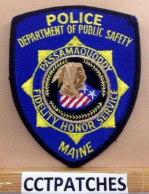 Passamaquoddy, Maine Police Public Safety Indian Shoulder Patch Me