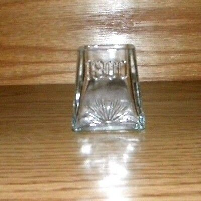 Original Jose Cuervo Tequila Pyramid 1800 shot glass w/ rasied Agave Shape