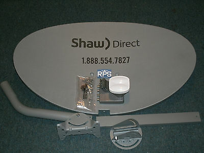 "Shaw Direct 75E (37"") 75cm Satellite Dish w/ xKu Quad LNB Star Choice Dish Quad"