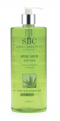 SBC Aloe Vera Bath and Shower Gel, for cooling overheated skin, 1000ml / 1 litre