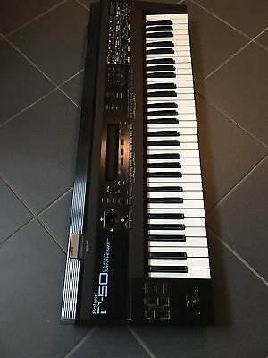 ROLAND D 50 Vintage Digital LA SYNTHESIZER D-50 incl. Card and warranty