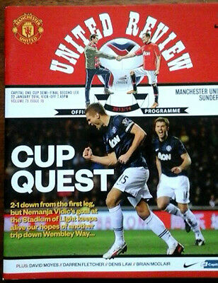 Man Utd V Sunderland 22/1/2014 League Cup Semi Final
