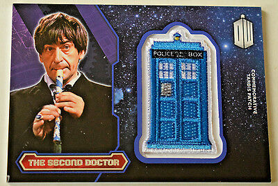 Doctor Who 2015 Topps Commemorative Tardis Patch Card The Second Doctor