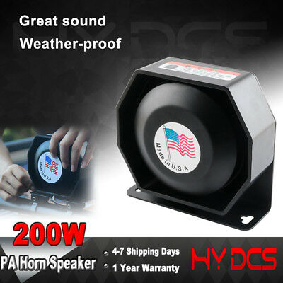 200W PA Horn Loud Speaker Siren System Kit Car Police Warning Alarm Fire 12V