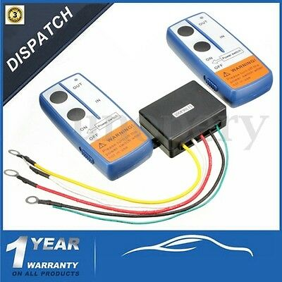 12V Recovery Wireless Winch Remote Control Twin Handset For Jeep Atv Suv Truck