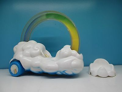 Care bears rainbow roller car and cloud seat - vintage