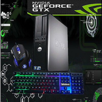 Fast Gaming Pc Desktop Dell/hp  1Tb 8Gb Ram Computer Windows 10,1Gb Nvidia Gt710