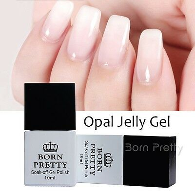 BORN PRETTY Opal Jelly White Soak Off Gel Top / Base Coat UV Gel Polish Varnish