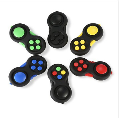 Fidget Hand Shank Pad Spinner ADHD Autism Anixety Stress Relieves Toy 6 Colors