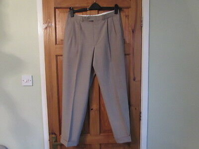 new M&S northern soul / 50s twin pleated turn up trousers W 32 X L 29